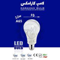 لامپ LED حبابی کارامکس 12 وات A65