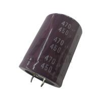 خازن 470 میکروفاراد 450 ولت الکترولیت